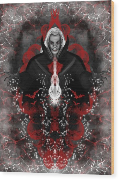 A Vampire Quest Fantasy Art Wood Print