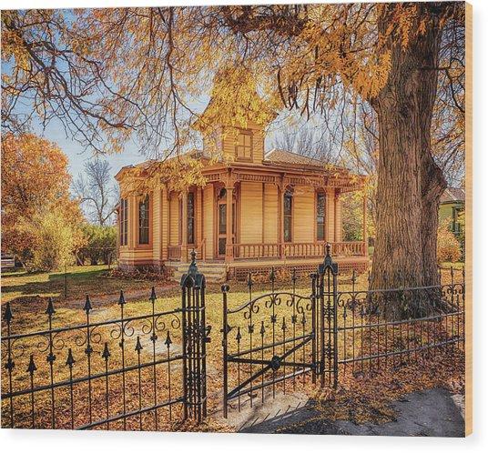 A Victorian Autumn Wood Print