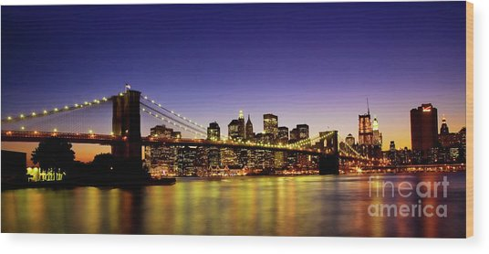 A View From Brooklyn Wood Print