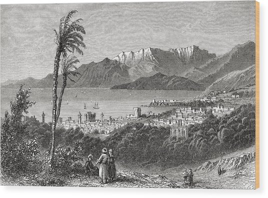 A View Of Beirut And The Lebanon In The Wood Print