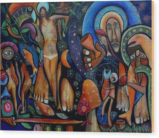 A Vision Of Christ Wood Print by Andrew Osta