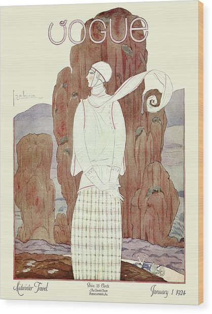 A Vogue Magazine Cover From 1924 Wood Print