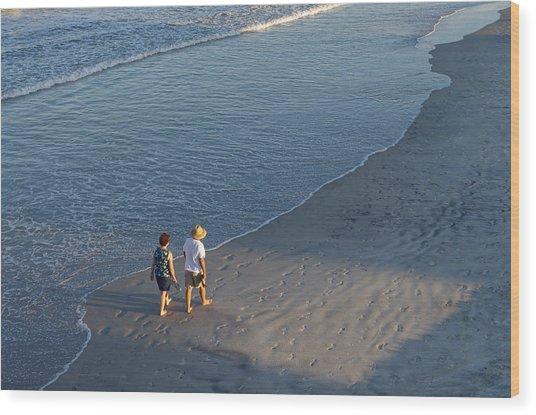 Wood Print featuring the photograph A Walk On The Beach by Willard Killough III