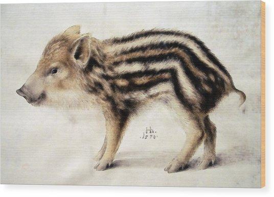 A Wild Boar Piglet Wood Print
