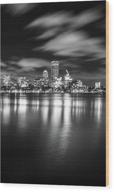 A Windy Night In Boston Wood Print