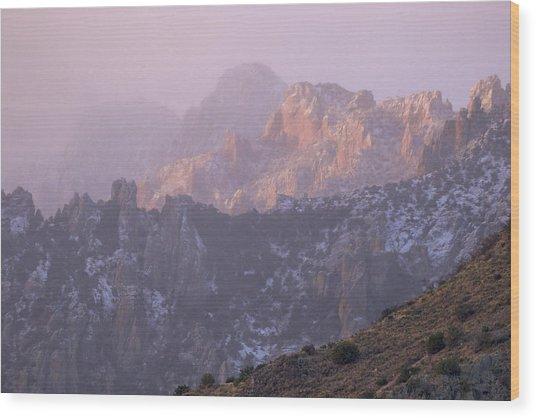 A Winter Morning At The Chiricahua Mountains'  Portal Peak Wood Print