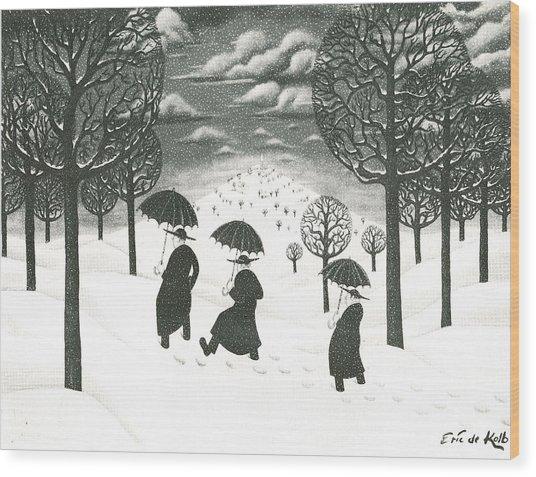 A Winter Scene Painting By Eric De Kolb