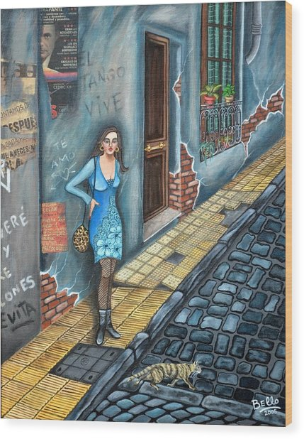 A Woman In Buenos Aires II Wood Print