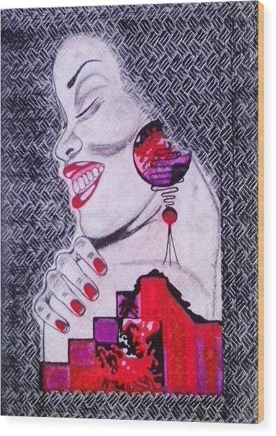 A Womans World Wood Print by Eziagulu Chukwunonso Innocent
