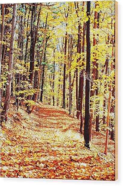 A Yellow Wood Wood Print