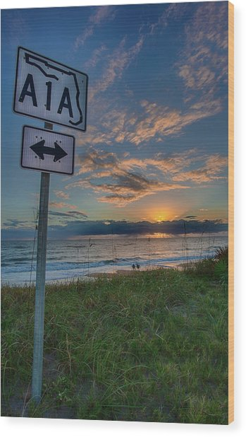 A1a Sunrise Wood Print