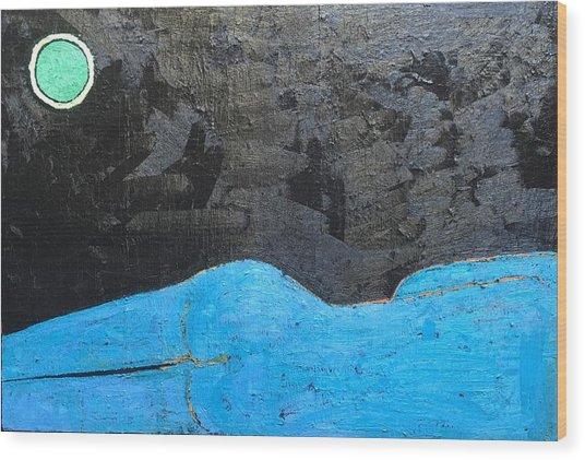 A 9 Oil On Canvas 36 X 24 2015 Wood Print
