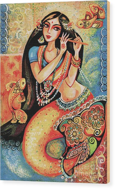 Aanandinii And The Fishes Wood Print
