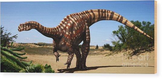 Aardonyx Wood Print by Julius Csotonyi