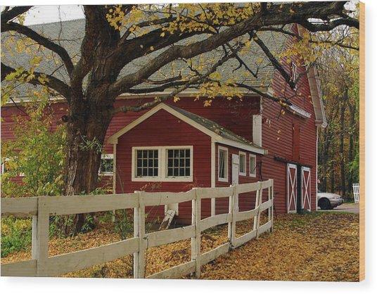 Aaron Smith Farm Autumn 4 Wood Print