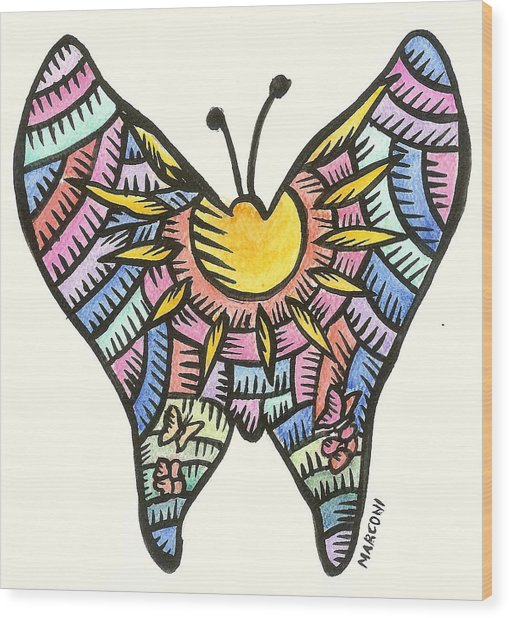 Ababang Guam Butterfly 2009 Wood Print