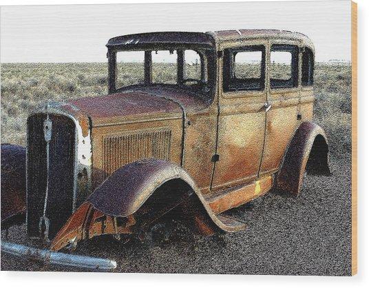 Abandonded Along Rt 66 Wood Print