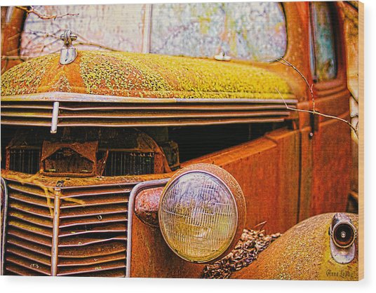 Abandoned Antique Truck 2 Wood Print