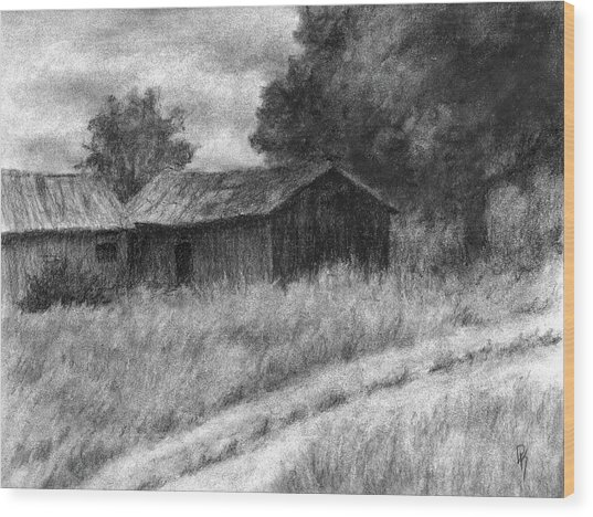 Abandoned Barns Wood Print