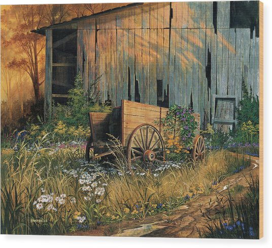 Abandoned Beauty Wood Print