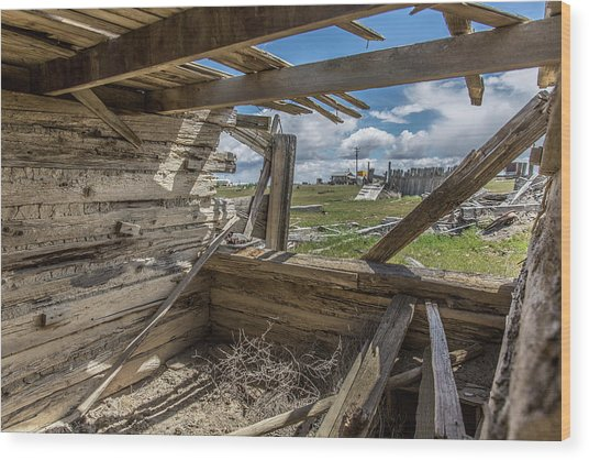 Abandoned Building In Cisco, Utah Wood Print