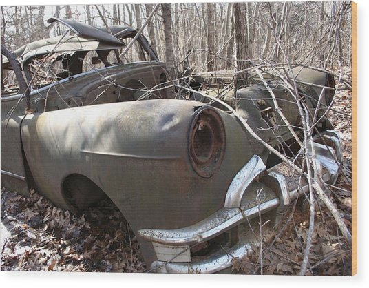 Abandoned Car 12 Wood Print