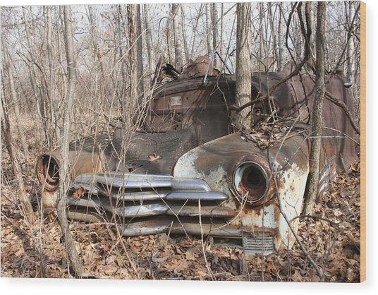 Abandoned Car 5 Wood Print