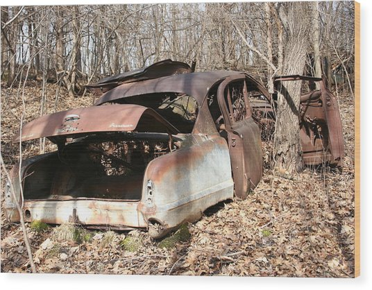 Abandoned Car 7 Wood Print