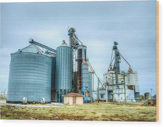 Abandoned Grainery At Dawn Wood Print