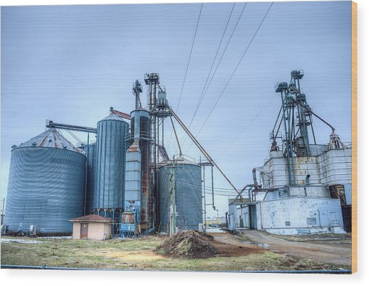 Abandoned Grainery Complex 1 Wood Print