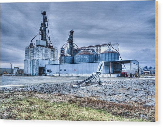 Abandoned Grainery Complex 2 Wood Print
