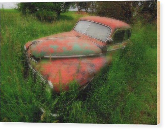 Abandoned In The Palouse Wood Print