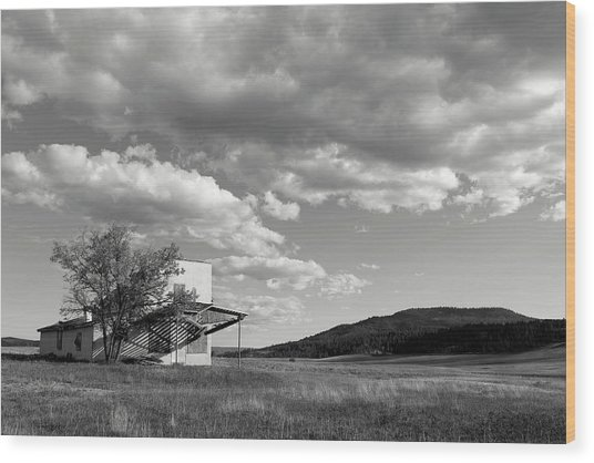 Abandoned In Wyoming Wood Print