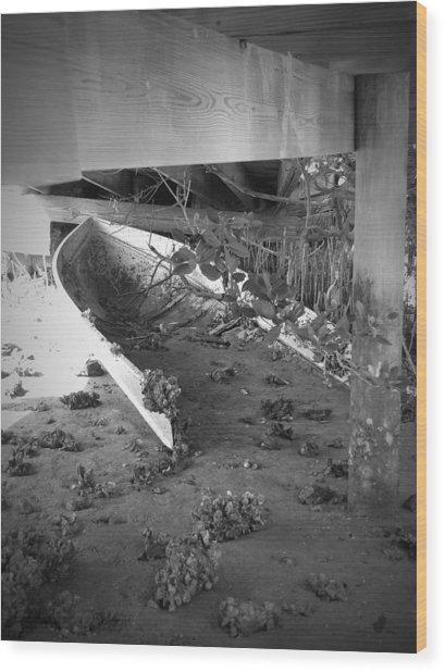 Abandoned Sailboat Wood Print by Megan Verzoni