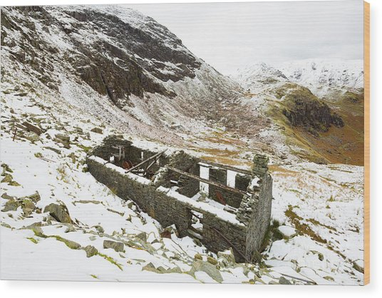 Abandoned Shed Coniston Wood Print