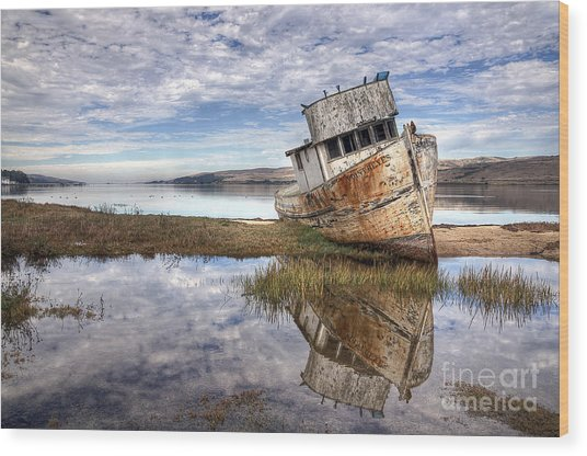 Abandoned Ship Wood Print