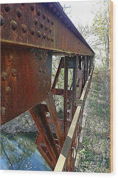 Abandoned Steel Bridge Nashville Indiana Wood Print
