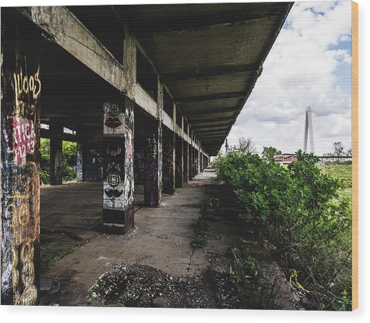 Abandoned Structure - Laclede's Landing Wood Print by Dylan Murphy