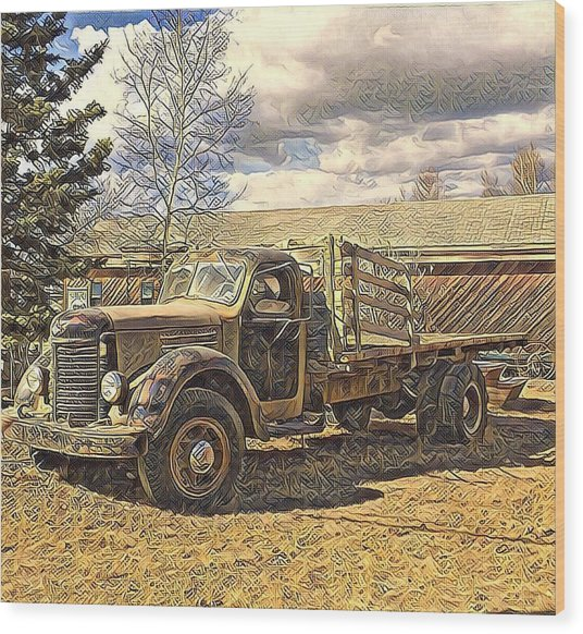 Abandoned Vehicle Canol Project 1945 Wood Print