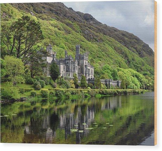 Abbey By The Lake Wood Print