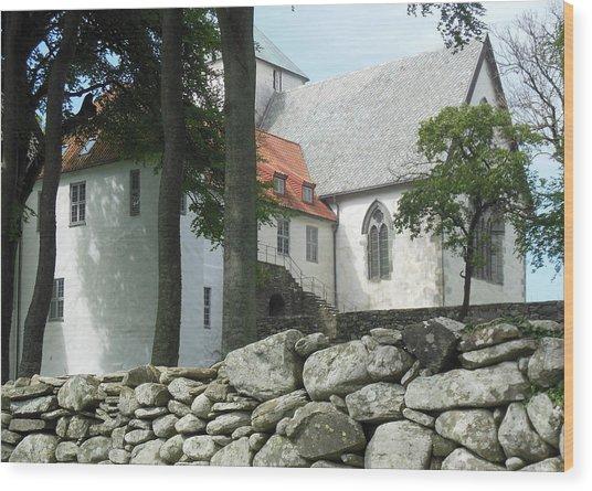 Abbey Exterior #2 Wood Print