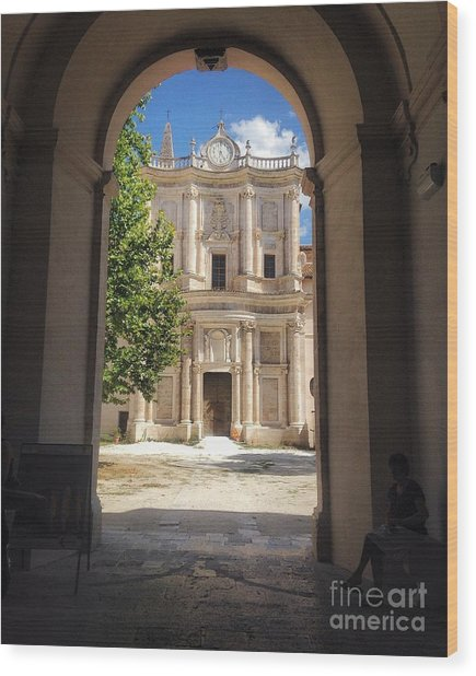 Abbey Of The Holy Spirit At Morrone In Sulmona, Italy Wood Print
