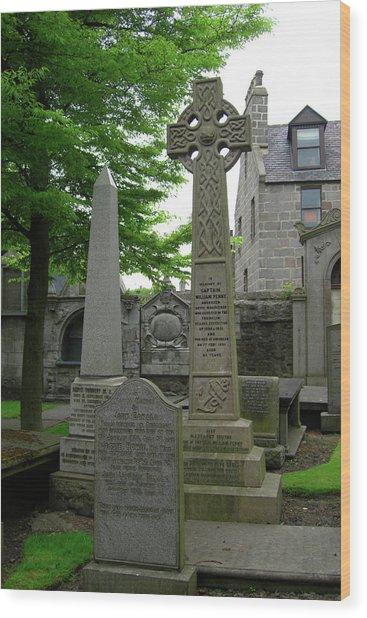 Aberdeen Grave Markers Wood Print by Deborah Smolinske