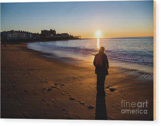 Aberystwyth Sunset Wood Print