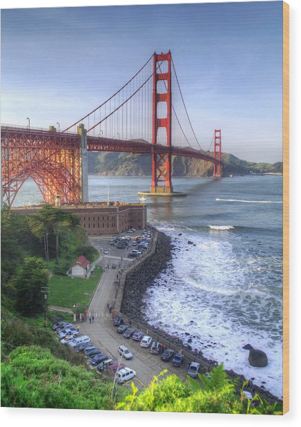 Above Fort Point Wood Print by Ken Osborn