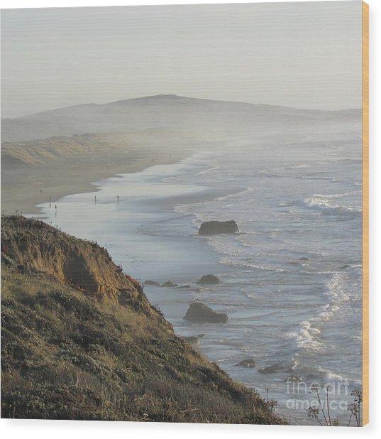 Looking Toward San Francisco Wood Print