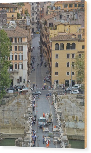Above Ponte Sant'angelo Wood Print by JAMART Photography