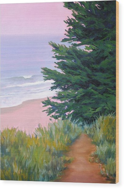 Above The Beach El Capitan Wood Print by Dorothy Nalls