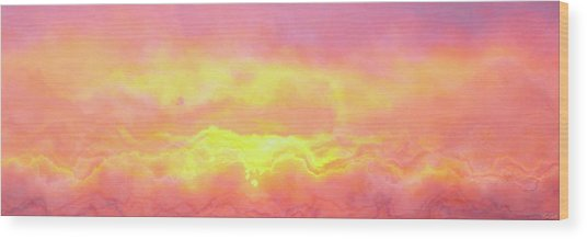 Wood Print featuring the mixed media Above The Clouds - Abstract Art by Jaison Cianelli