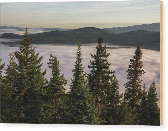 Above The Clouds Wood Print